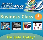 1c- Digital Fashion Pro Business Class. 4 Items! Digital Fashion Pro Basic + 3 Upgrades (Style Pack, Fabric Library, Beyond the Basics). Everything included in Basic + Design Dresses, Tops, Swimwear, Hoodies, Jackets, Baby